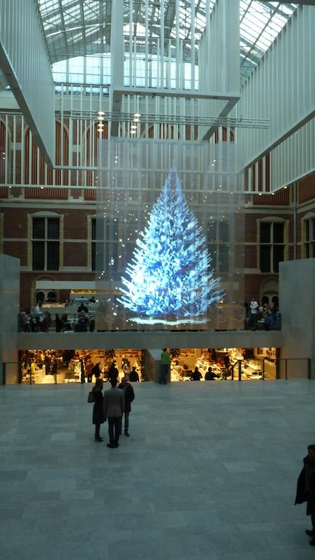 Hologram Christmas Tree Projector.Holographic Christmas Tree At Rijksmuseum Amsterdam Beam